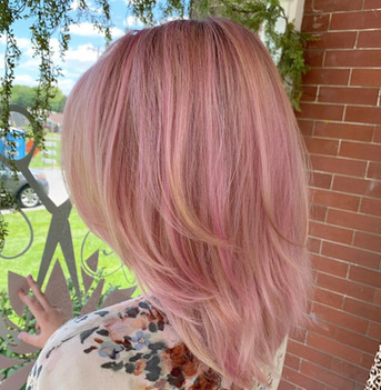Salon Gallery Image Color Pink