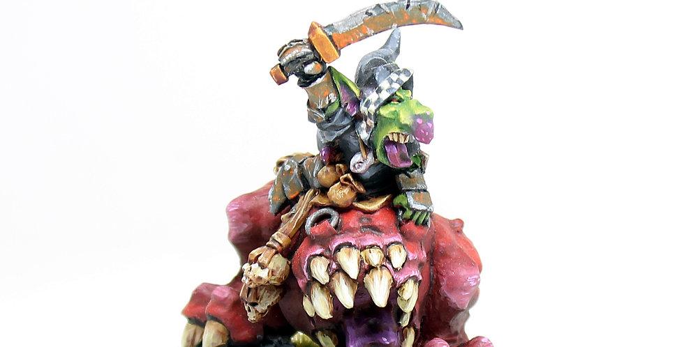Mushroom-mounted goblin
