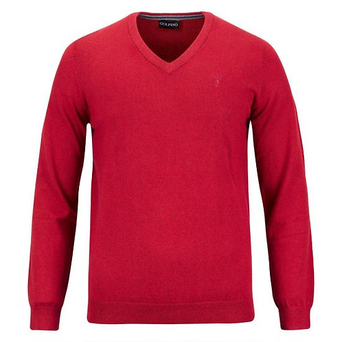 The Firenze Pullover Crimson