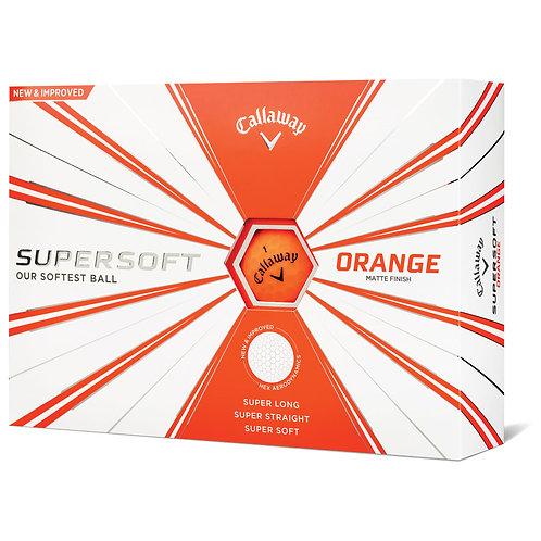 Balles CALLAWAY SUPERSOFT MATTE ORANGE