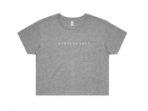 Cropped T shirt GREY