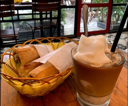 Vietnamese bread & Coconut coffee