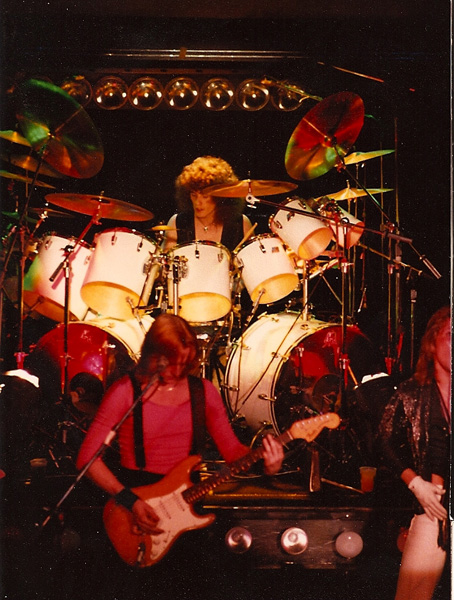 Glenn Jones on drums