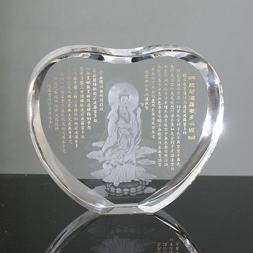 觀音心經水晶擺件 / Guan Yin Heart Sutra Crystal Decorative Item