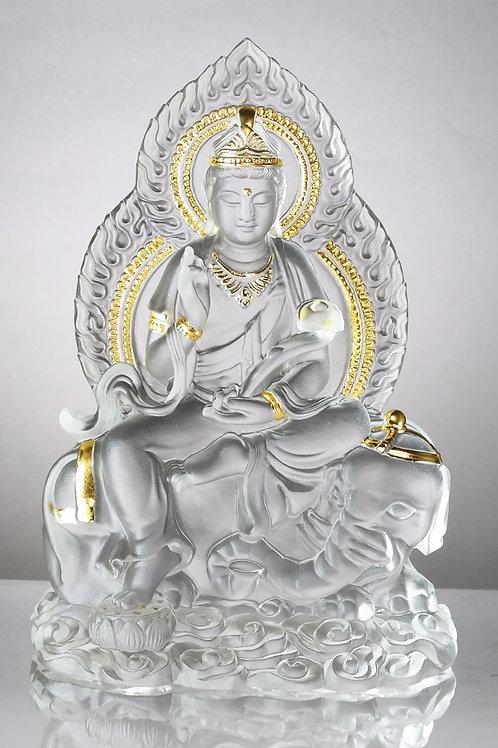 普賢菩薩(貼金) 18.5cm /  Samantabhadra in gilded