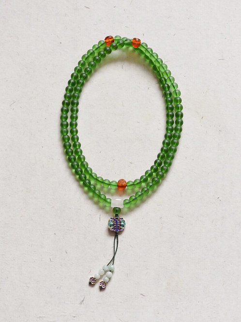 108 琉璃綠色念珠 8mm/ 108 prayer beads in green  8mm