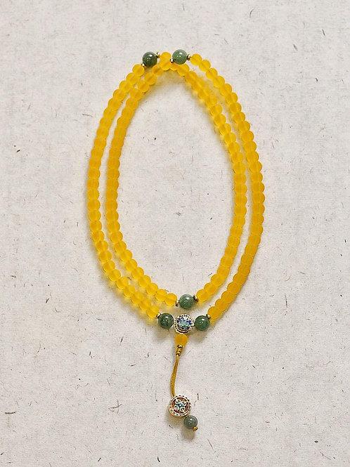 108 琉璃黃念珠 6mm/ 108 prayer beads in yellow  6mm