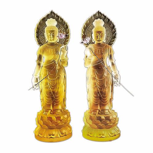 日月光菩薩與(一對)31cm / Surya-Prabha & Candra-Prabha (a pair)