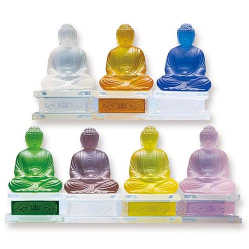 釋迦牟尼佛(多色)連底座/ Shakyamuni (multi colour) with stand