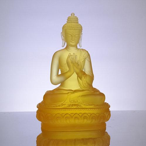 藥師七佛_南無金色寶光妙行成就如來 20cm/ Medicine Buddhain seven colour