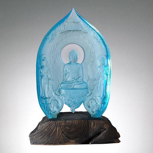 東方三聖(連木座) Medicine Buddha, Surya-Prabha & Candra-Prabha