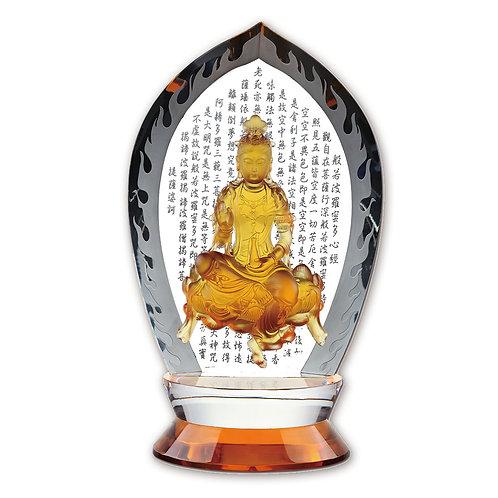文殊菩薩(水晶背板) /Avalokitesvara in Guanzizai form