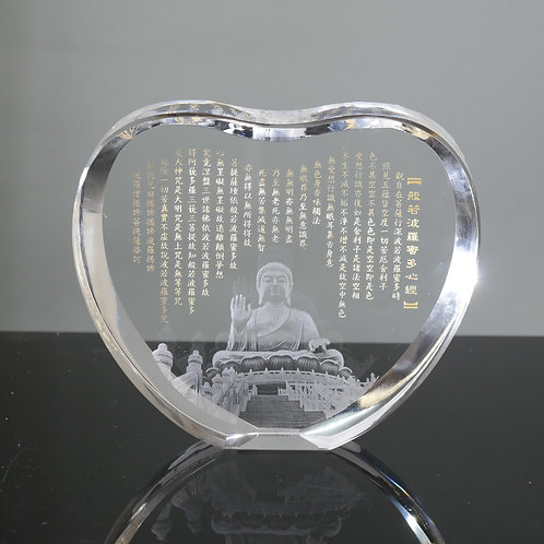 天壇大佛心經水晶擺件 / Tian Tan Buddha Heart Sutra Crystal Decorative Item