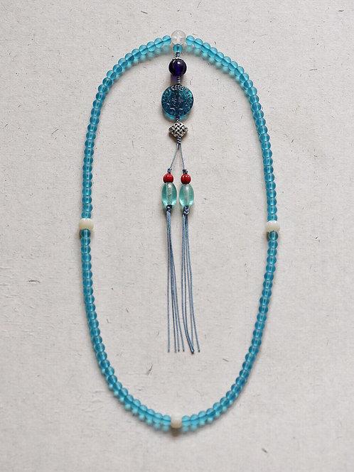 108 琉璃湖水藍念珠 8mm/ 108 prayer beads in Aquamarine 8mm