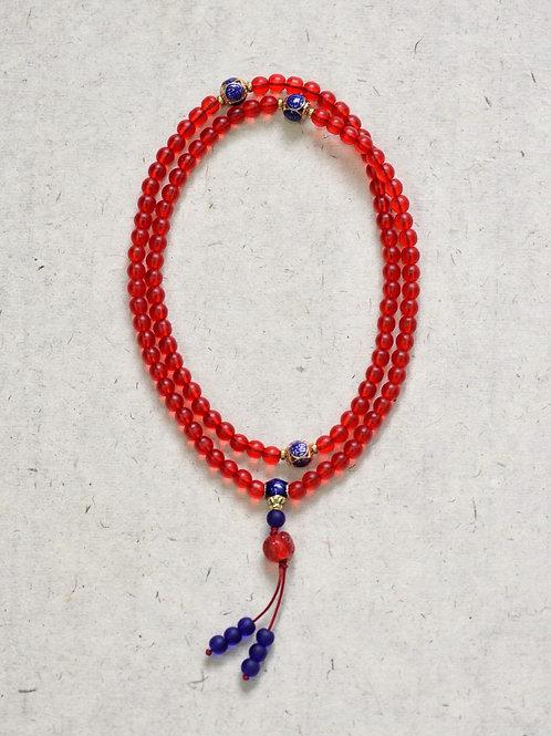 108 琉璃紅念珠 6mm/ 108 prayer beads in red  6mm