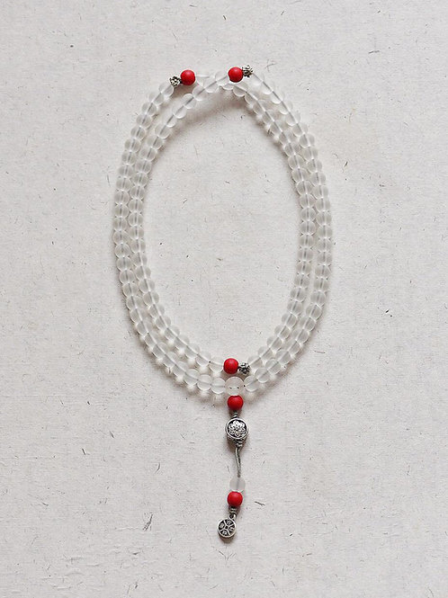 108 琉璃透明色念珠 8mm/ 108 prayer beads in transparent colour 8mm
