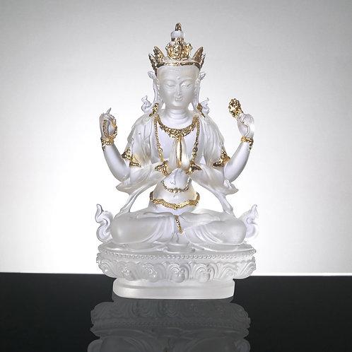 四臂觀音/The Four-armed Bodhisattva 12cm
