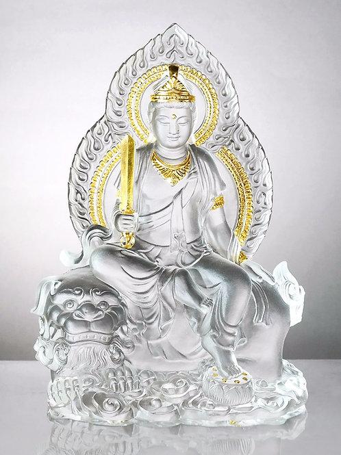 文殊菩薩(貼金) 18.5cm / Manjushri in gilded