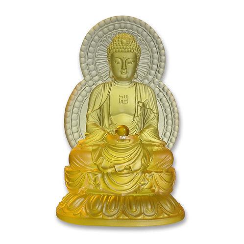 背光阿彌陀佛(黃色) 18.5cm/Amitābha in yellow