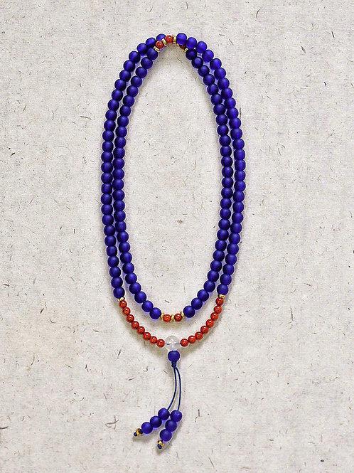 108 琉璃藥師藍念珠 6mm/ 108 prayer beads in blue  6mm