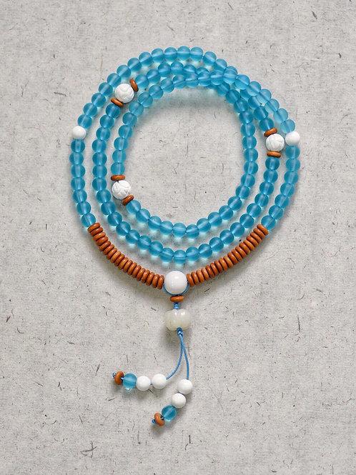 108 琉璃湖上藍念珠 6mm/ 108 prayer beads in Aquamarine 6mm
