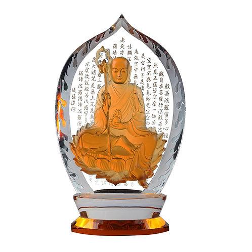 地藏菩薩(水晶背板)/Ksitigarbha