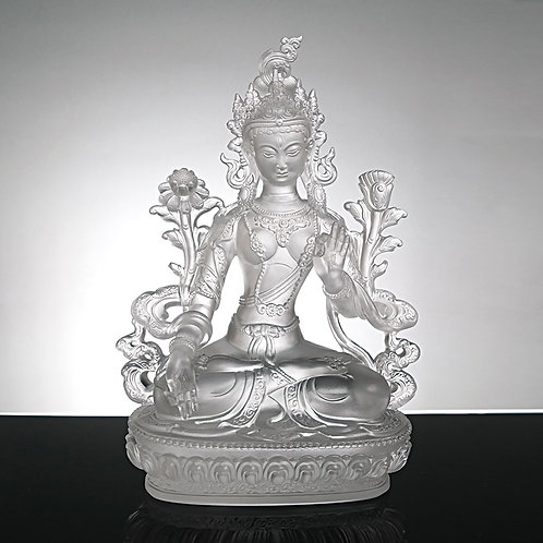 白度母20cm/White Tara with gilded