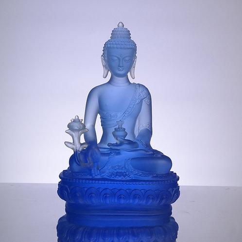 藥師七佛_藥師佛南無藥師琉璃光如來 20cm/ Medicine Buddhain seven colour