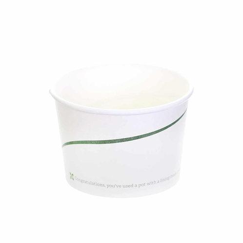 Sustain Compostable food pot – Leaf Print – 12oz / 360ml
