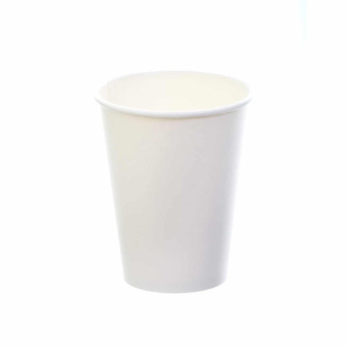 Sustain White Single Wall Bio hot cup – Plain – 8oz/240ml
