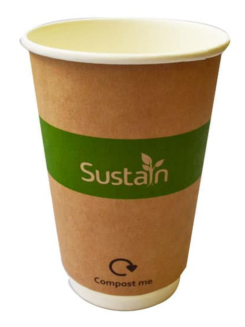 Sustain Printed Kraft Double Wall Hot Cup – 16oz/500ml