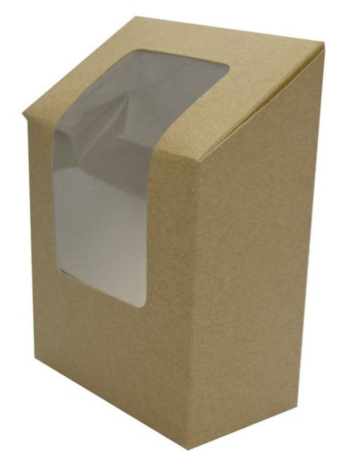 Sustain Wrap Box with Window – Brown - 121 mm