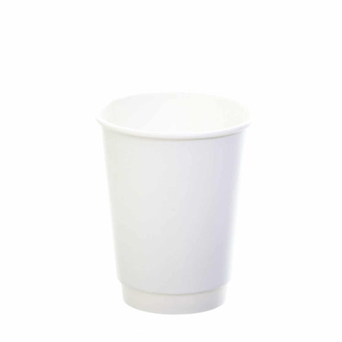 Sustain White Double Wall Bio hot cup – Plain – 12oz/360ml