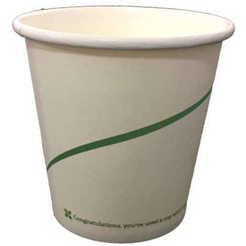 Sustain White Single Wall Hot Cup – Greenline Print - 4oz/120ml - case of 1000