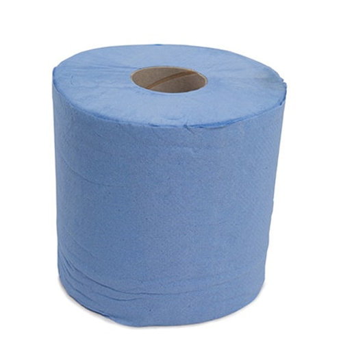 2 Ply Recycled Paper Blue Roll - case of 6