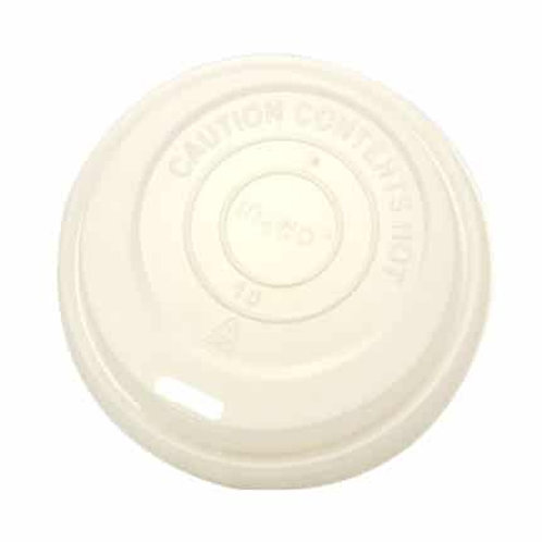 Sustain Compostable hot cup Lid – White – 8oz/240ml