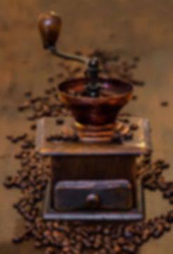 Traditional vintage coffee grinder