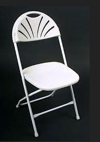 Chair Fan Back White