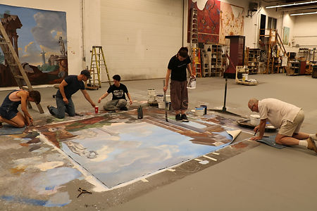 12 Group take up Kristin's painting.JPG
