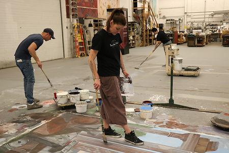 Kristin paints MW.JPG
