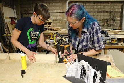 Abby & Hanna glue, staple.JPG