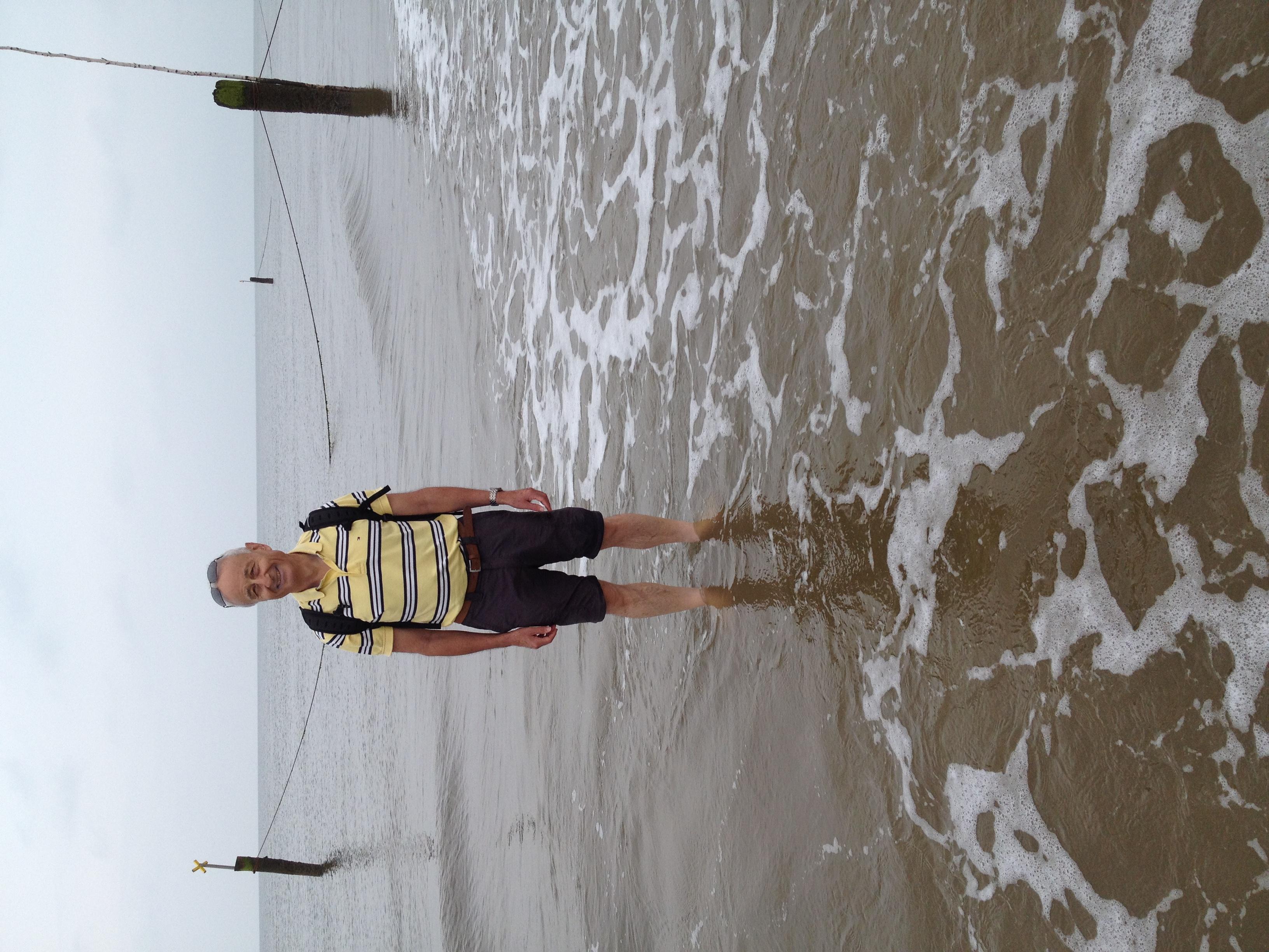 Sandwandern am Strand