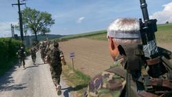 1 km nach dem Start am 300. Waffenlauf