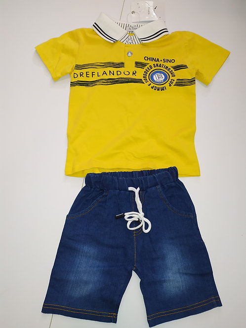 חליפת גן מכנס ג'ינס