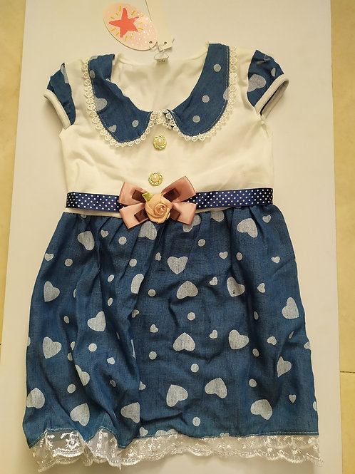 שמלה שילוב ג'ינס ואינטרלוק