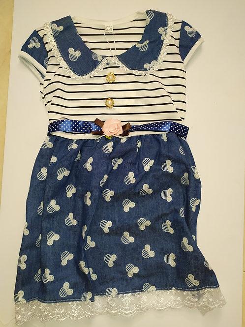 שמלה עם שילוב ג'ינס ואינטרלוק