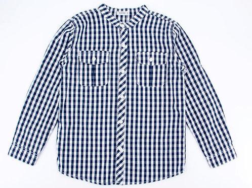 חולצה מכופתרת כותנה,צווארון סיני