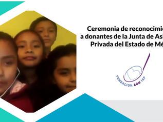 Ceremonia de reconocimientos a donantes de la Junta de Asistencia Privada del Estado de México.