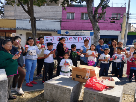 Jornada en materia de cultura bucal en la alcaldía Iztacalco, realizada por AMEXPRO.