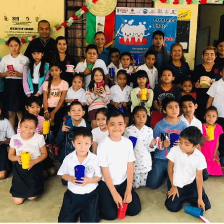 Programa piloto de cepillado diario en escuelas primarias del municipio de Iguala